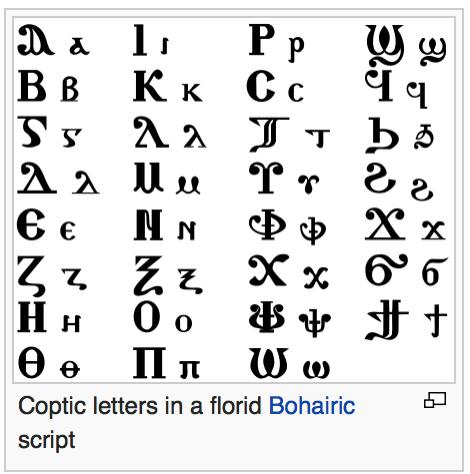coptic_alphabet